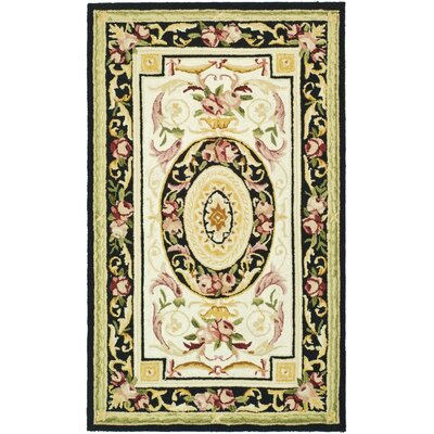 Weaver Ivory / Black Area Rug Rug Size: Rectangle 39 x 59