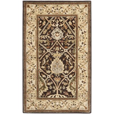 Empress Brown/Beige Area Rug Rug Size: Rectangle 96 x 136