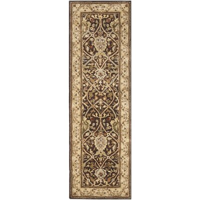 Empress Brown/Beige Area Rug Rug Size: Runner 26 x 8