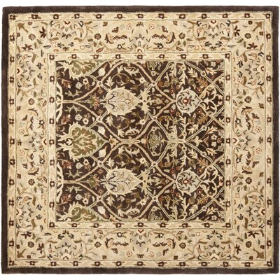 Empress Brown/Beige Area Rug Rug Size: Square 6
