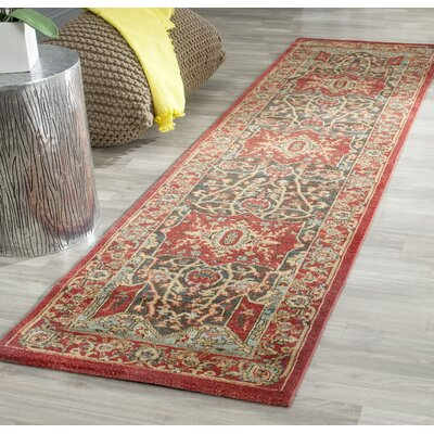 Pennypacker Red Area Rug Rug Size: Runner 2'2