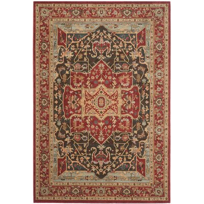 Pennypacker Red Area Rug Rug Size: 6'7