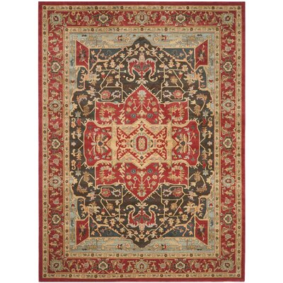 Pennypacker Red Area Rug Rug Size: 8' x 11'