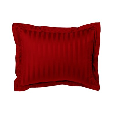 Hatton Tailored Sham Size: Euro, Color: Red