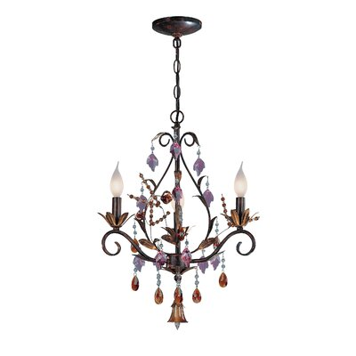 Leah 3-Light Crystal Chandelier