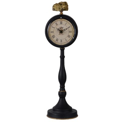 Pedestal Tabletop Clock Size: Medium