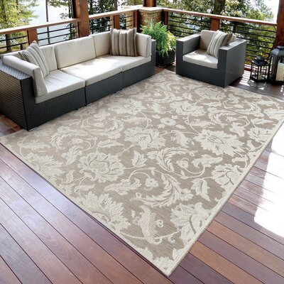Norfolk Ivory Indoor/Outdoor Area Rug Rug Size: 51 x 76