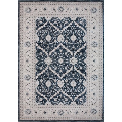Lila Dark Blue Area Rug