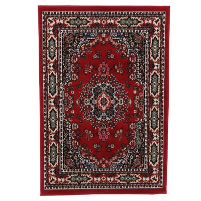 Lilly Claret Area Rug Rug Size: 37 x 52