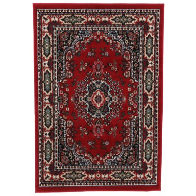 Lilly Claret Area Rug Rug Size: 78 x 107