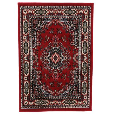 Lilly Claret Area Rug Rug Size: 52 x 74