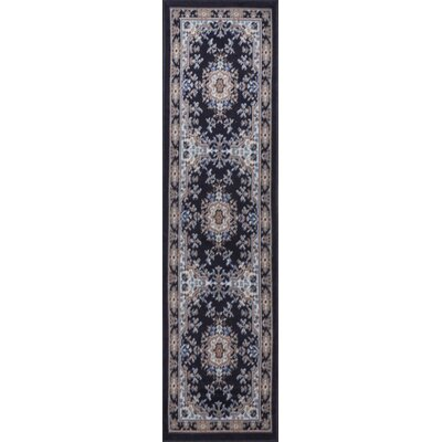 Lilly Blue Area Rug Rug Size: Rectangle 37 x 52