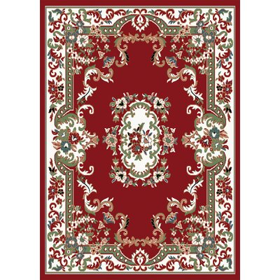 Lilly Claret Area Rug Rug Size: Rectangle 1'9
