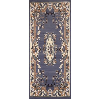 Lilly Country Blue Area Rug Rug Size: Runner 19 x 72