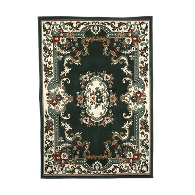 Lilly Hunter Green Area Rug Rug Size: 52 x 74