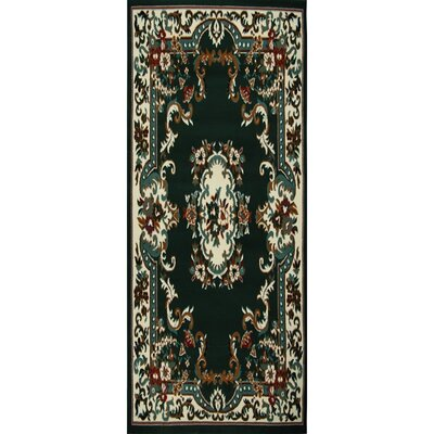 Lilly Hunter Green Area Rug Rug Size: Runner 19 x 72