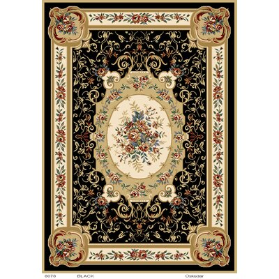 Caterina Black Area Rug Rug Size: 78 x 104