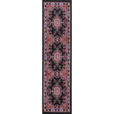 Lilly Black Area Rug Rug Size: Runner 11 x 73