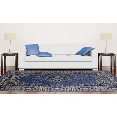 Lilly Country Blue Area Rug Rug Size: 92 X 125