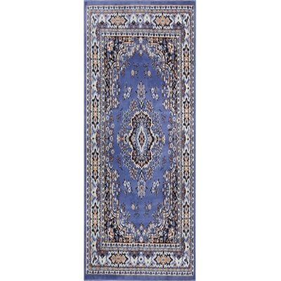 Lilly Country Blue Area Rug Rug Size: Runner 11 x 73