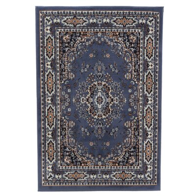 Lilly Country Blue Area Rug Rug Size: 53 x 75