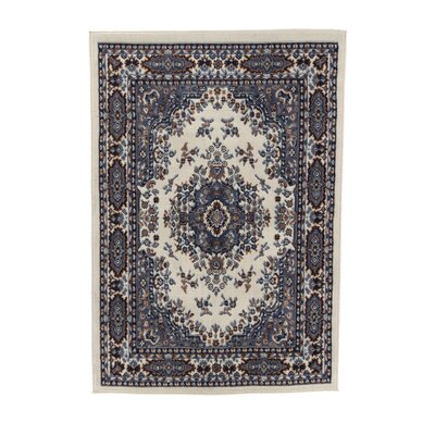 Lilly Porcelain Blue Area Rug Rug Size: 53 x 75