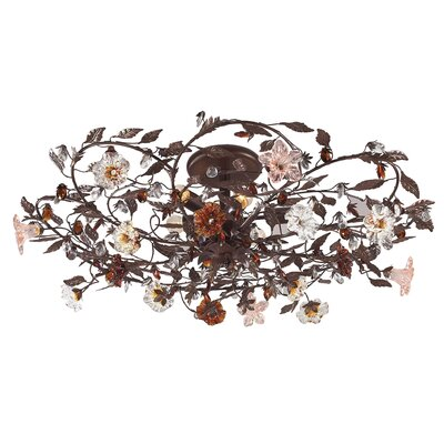 Lorraine 6-Light Semi Flush Mount