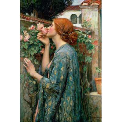 'The Soul of the Rose, 1908' by John William Waterhouse Painting Print on Wrapped Canvas Size: 12
