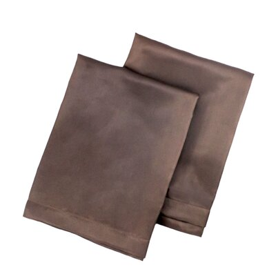 Tiffany Satin Pillowcase Size: King, Color: Brown