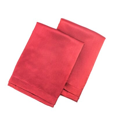 Tiffany Satin Pillowcase Size: King, Color: Red