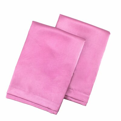 Tiffany Satin Pillowcase Size: King, Color: Pink