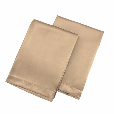 Tiffany Satin Pillowcase Size: Standard, Color: Taupe