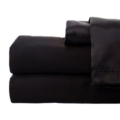 Tiffany 280 Thread Count Sheet Set Size: Full, Color: Black