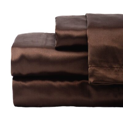 Tiffany 280 Thread Count Sheet Set Size: Queen, Color: Brown