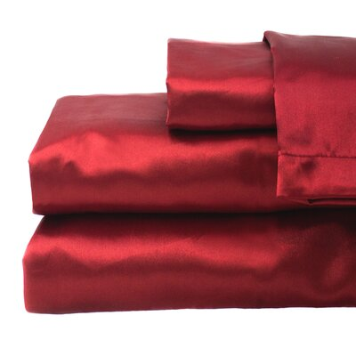 Tiffany 280 Thread Count Sheet Set Size: Full, Color: Red
