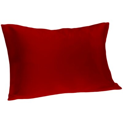 Dalton Satin Pillowcase Size: Queen, Color: Burgundy