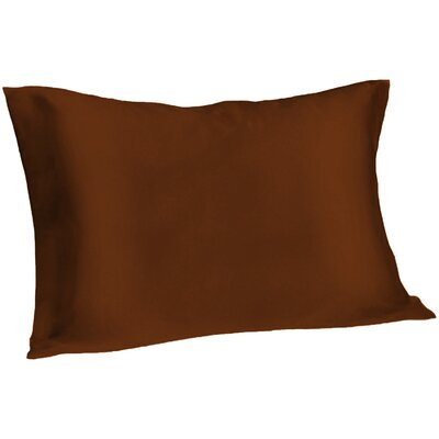Dale Silk Pillowcase Size: Queen, Color: Chocolate