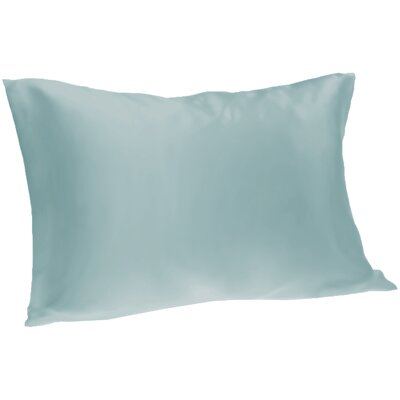 Dalton Satin Pillowcase Size: Queen, Color: Light Blue
