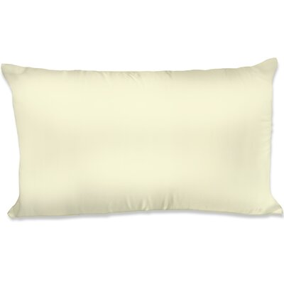 Dalton Satin Pillowcase Size: King, Color: Ivory