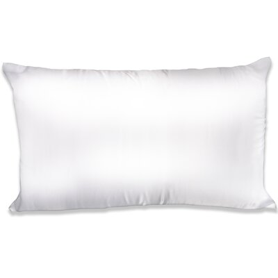 Dalton Satin Pillowcase Color: White, Size: Queen