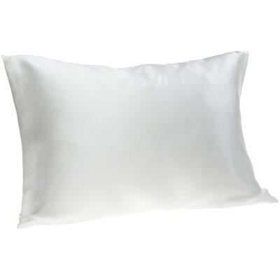 Dale Silk Pillowcase Size: Queen, Color: White