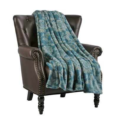 Winnifred Microfiber Flannel Blanket Color: Dragonfly