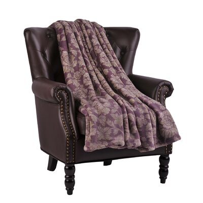 Winnifred Microfiber Flannel Blanket Color: Flint