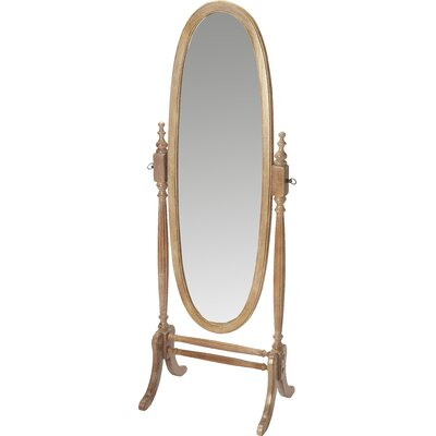 Oval Driftwood Gray Cheval Mirror