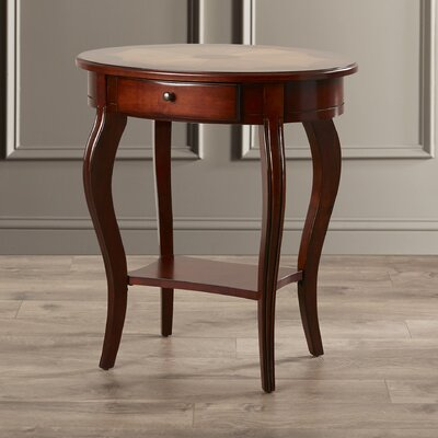 Mela Cherry Oval End Table