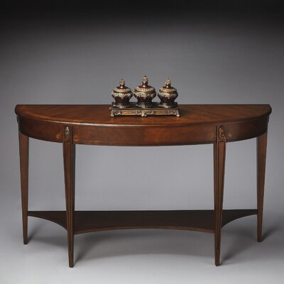 Rochele Demilune Console Table Finish: Antique Cherry
