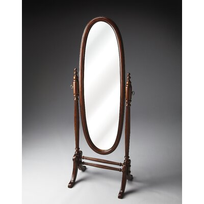 Oval Black Licorice Wood Cheval Mirror Finish: Plantation Cherry