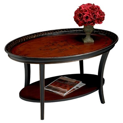 Kadine Coffee Table Color: Traditional Red & Black