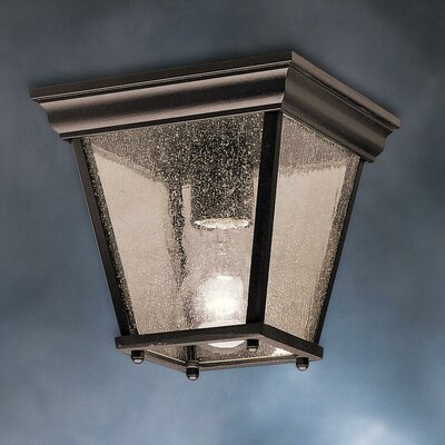 Caroline 1-Light Flush Mount Finish: Painted Black