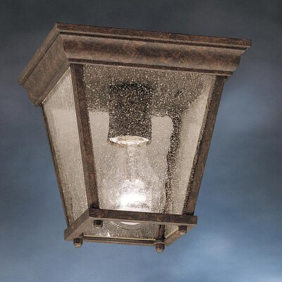 Caroline 1-Light Flush Mount Finish: Tannery Bronze